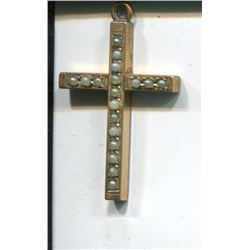 GOLD FILLED CROSS (W/FRESH WATER PEARLS)