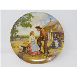 """DECORATOR PLATE (BRADFORD EXCHANGE) """"OH, WHAT A BEAUTIFUL MORNIN'"""" *W/CERTIFICATE OF AUTHENTICITY*"""