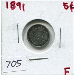 1891 CNDN 5 CENT PC (SILVER)