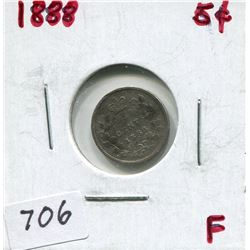 1888 CNDN 5 CENT PC (SILVER)