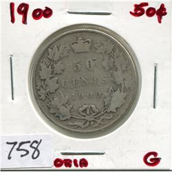 1900 CNDN 50 CENT PC (SILVER)