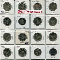 SHEET OF 16 1960s-1970s CNDN 50 CENT PCS