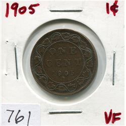 1905 CNDN LARGE 1 CENT PC