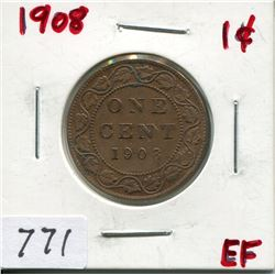 1908 CNDN LARGE 1 CENT PC