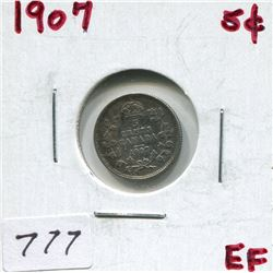 1907 CNDN 5 CENT PC (SILVER)