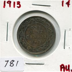1913 CNDN LARGE 1 CENT PC