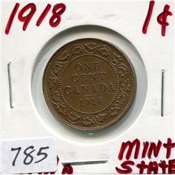1918 CNDN LARGE 1 CENT PC