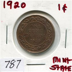 1920 CNDN LARGE 1 CENT PC