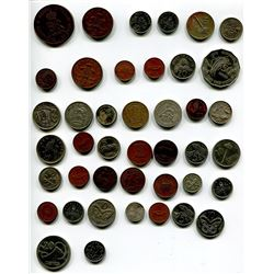 LOT OF FOREIGN COINS 'UK, JAMAICA, NEW ZEALAND, ETC' (QTY 42)