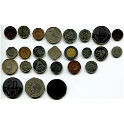 LOT OF FOREIGN COINS 'CUBA, MEXICO, ETC' (QTY 25)