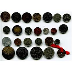 LOT OF FOREIGN COINS 'SINGAPORE, MEXICO, ETC' (QTY 25)