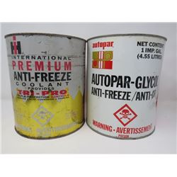 INTERNATIONAL ANTI-FREEZE *FULL* & AUTOPAR ANTI-FREEZE CAN