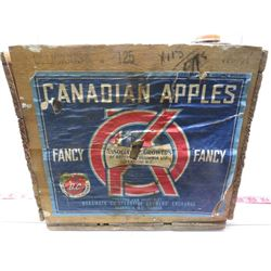 WOODEN CRATE (CANADIAN APPLES, BC)