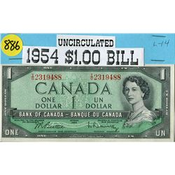 1954 CNDN $1 BANKNOTE (UNC. COND)