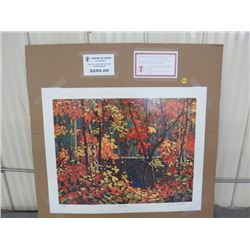 """LIMITED PRINT 'THE POOL' (BY TOM THOMSON) *37/77* (23"""" X 18.5"""")"""