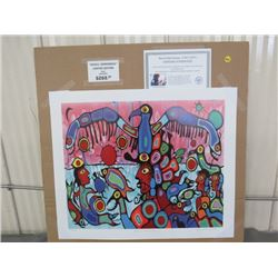 """LIMITED PRINT 'BETWEEN TWO WORLDS' (BY NORVAL MORRISSEAU) *304/950* (23"""" X 18.5"""")"""