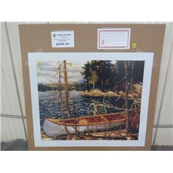 """LIMITED PRINT 'THE CANOE' (BY TOM THOMSON) *279/777* (23"""" X 18.5"""")"""