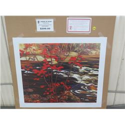 """LIMITED PRINT 'THE RED MAPLE' (BY AY JACKSON) *432/777* (23"""" X 18.5"""")"""