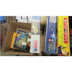 BOX WITH ASSORTED PUZZLES