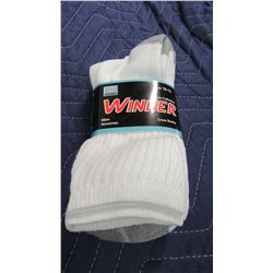 NEW GREY/WHITE SOCKS (3 PAIR) - PER PACKAGE