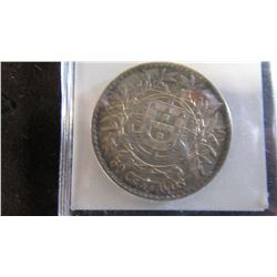 1913 REPUBLIC OF PORTUGAL SILVER FIFTY CENT COIN