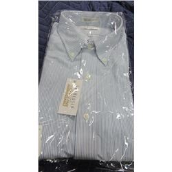 NEW VAN HEUSEN BLUE STRIPE DRESS SHIRT - CHOICE