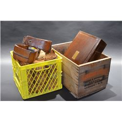 Assortment of boxes and tack