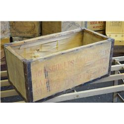 LARGE Vintage Box with metal strapping