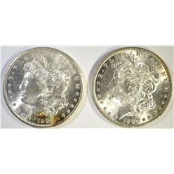 1887 CH BU & 1904-O GEM BU MORGAN DOLLARS