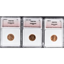 1946-S, 1965 & 1968-D SMS LINCOLN CENTS