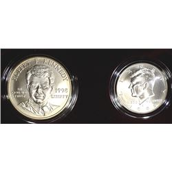1998 KENNEDY TWO-COIN COLLECTOR SET