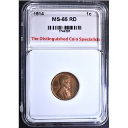 1914 LINCOLN CENT, TDCS GEM BU RD