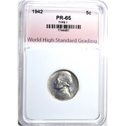 1942 TYPE 1 JEFFERSON NICKEL WHSG GEM