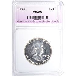 1954 FRANKLIN HALF DOLLAR, NGP SUPERB GEM PR++