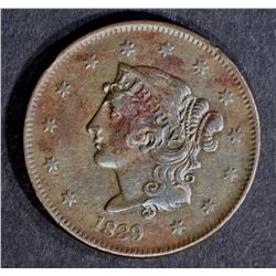 1839 LARGE CENT, XF