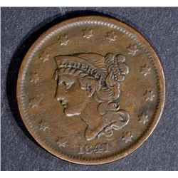 1841 LARGE CENT, VF/XF KEY DATE