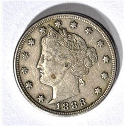 1888 LIBERTY NICKEL XF/AU
