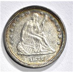 1877 SEATED QUARTER, BU
