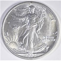 1916 WALKING LIBERTY HALF CH/GEM BU