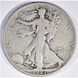 1921 WALKING LIBERTY HALF FINE