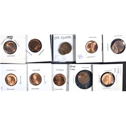 10-OFF CENTER LINCOLN CENTS