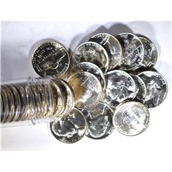 BU ROLL OF 1945-P SILVER JEFFERSON WAR NICKELS