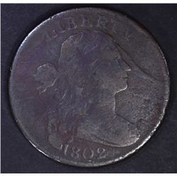 1802 DRAPED BUST LARGE CENT, FINE S-239
