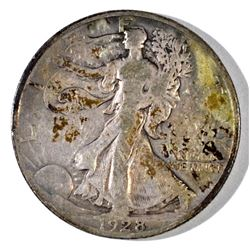 1928-S WALKING LIBERTY HALF DOLLAR, VF+
