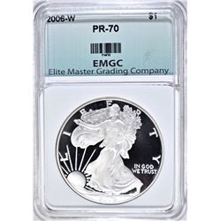 2006 W AMERICAN SILVER EAGLE PERFECT  PROOF  EMGC
