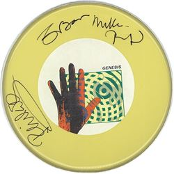 """Genesis """"Invisible Touch"""" Signed Drum Head"""
