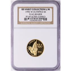 1996-W $5 Proof Olympics Commemorative Gold Coin NGC PF69 Ultra Cameo