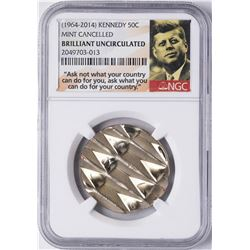 1964-2014 Mint Cancelled Kennedy Half Dollar Coin NGC Brilliant Uncirculated