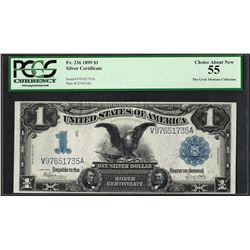 1899 $1 Black Eagle Silver Certificate Note Fr.236 PCGS Choice About New 55
