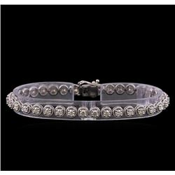 3.95 ctw Diamond Bracelet - 14KT White Gold